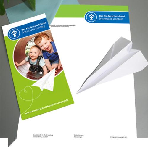 geschaeftsausstattung der kinderschutzbund leonberg briefpapier