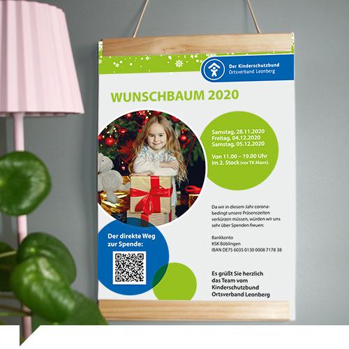 grafik design der kinderschutzbund leonberg wunschbaum