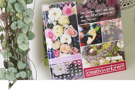 Kalender grafikdesign florist